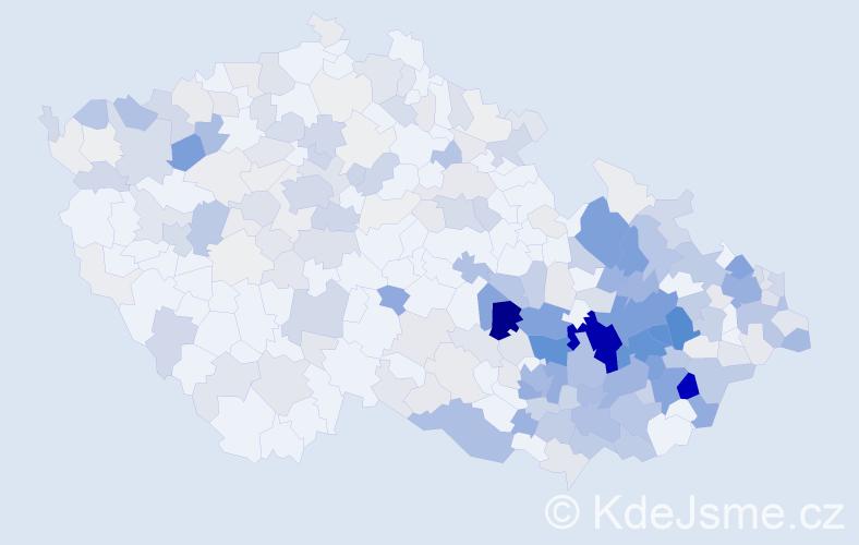 Příjmení: 'Jančík', počet výskytů 1245 v celé ČR