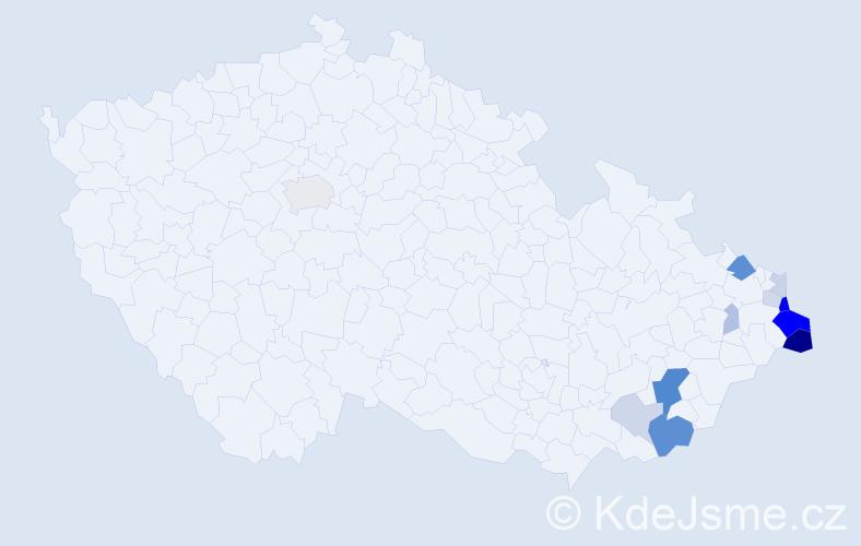 Příjmení: 'Caputová', počet výskytů 36 v celé ČR
