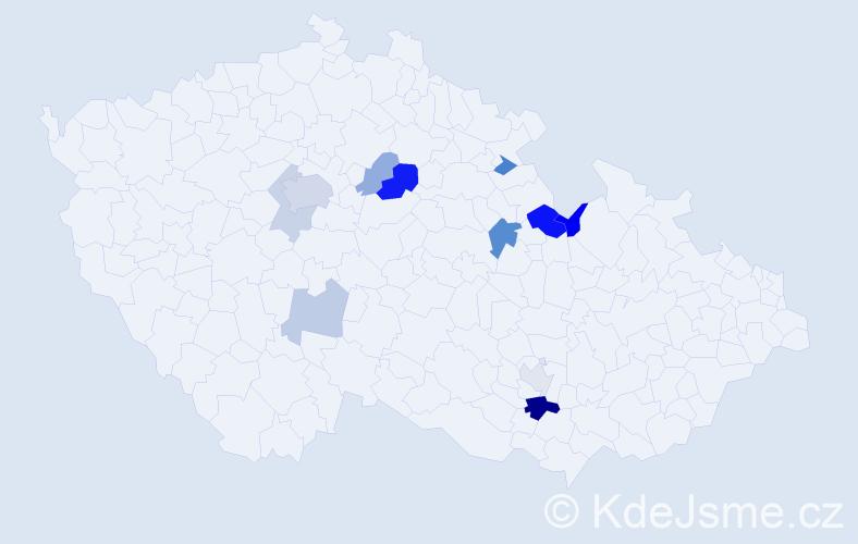 Příjmení: 'Faltýsek', počet výskytů 24 v celé ČR