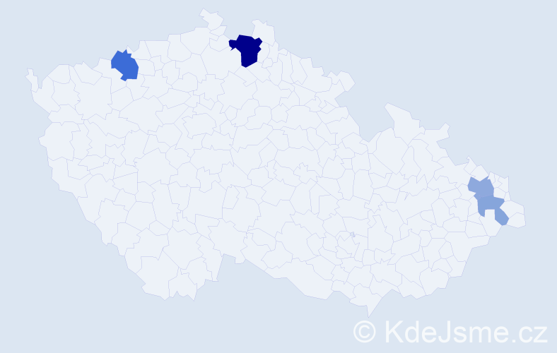 Příjmení: 'Honíšek', počet výskytů 10 v celé ČR