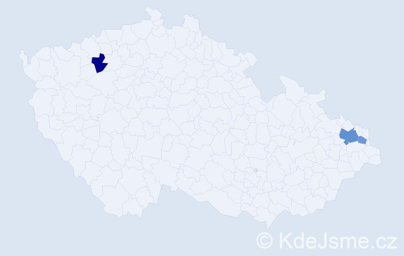 Příjmení: 'Buttlerová', počet výskytů 5 v celé ČR
