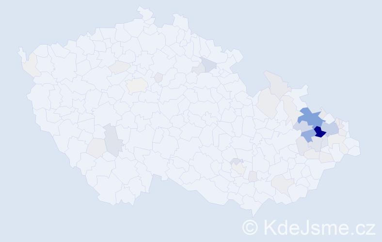 Příjmení: 'Lazecký', počet výskytů 197 v celé ČR