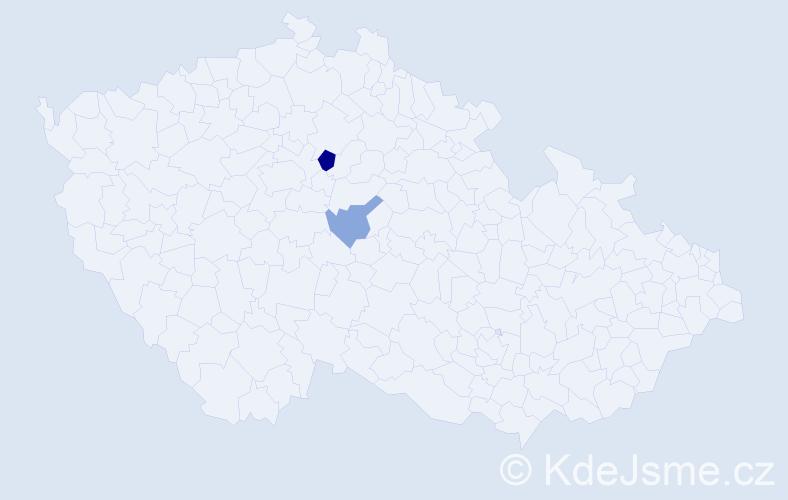 Příjmení: 'Ehrhardt', počet výskytů 3 v celé ČR