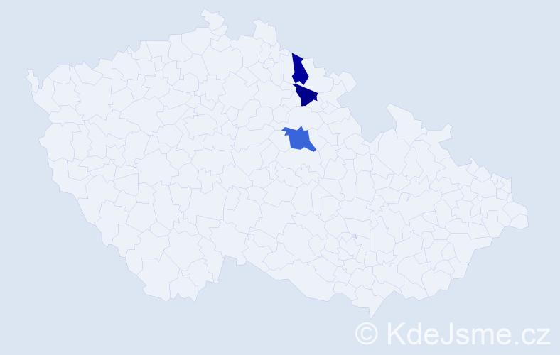 Příjmení: 'Bítalová', počet výskytů 4 v celé ČR