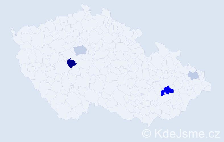 Příjmení: 'Fistung', počet výskytů 8 v celé ČR