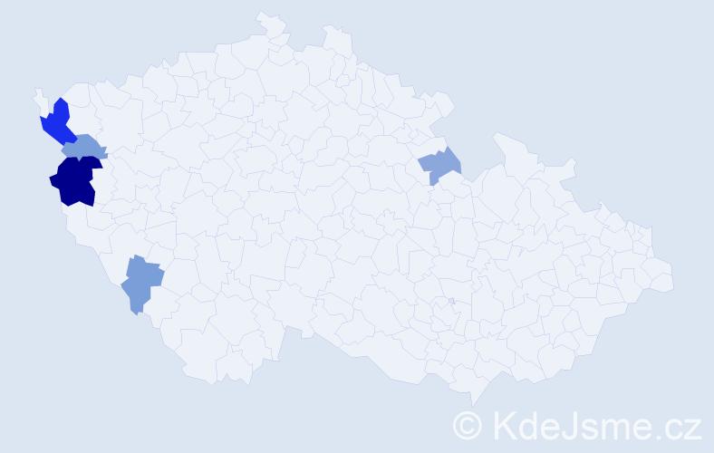 Příjmení: 'Kajlik', počet výskytů 13 v celé ČR