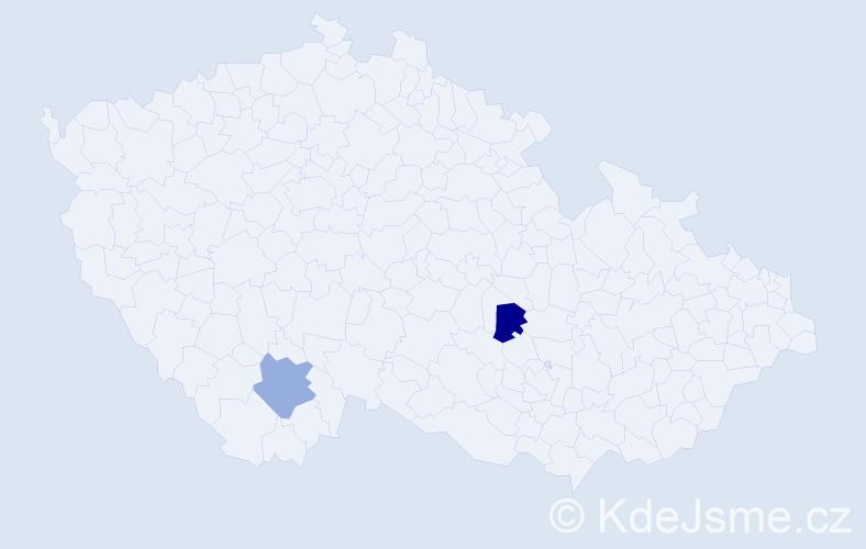 Příjmení: 'Dreyer', počet výskytů 2 v celé ČR