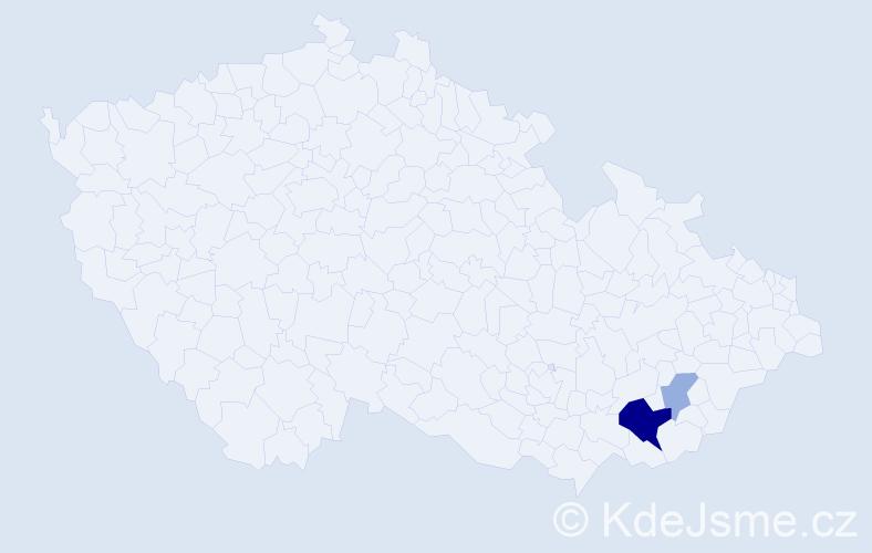 Příjmení: 'Ančík', počet výskytů 12 v celé ČR