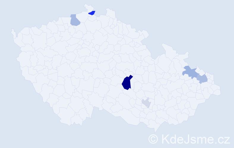 Příjmení: 'Izrael', počet výskytů 9 v celé ČR