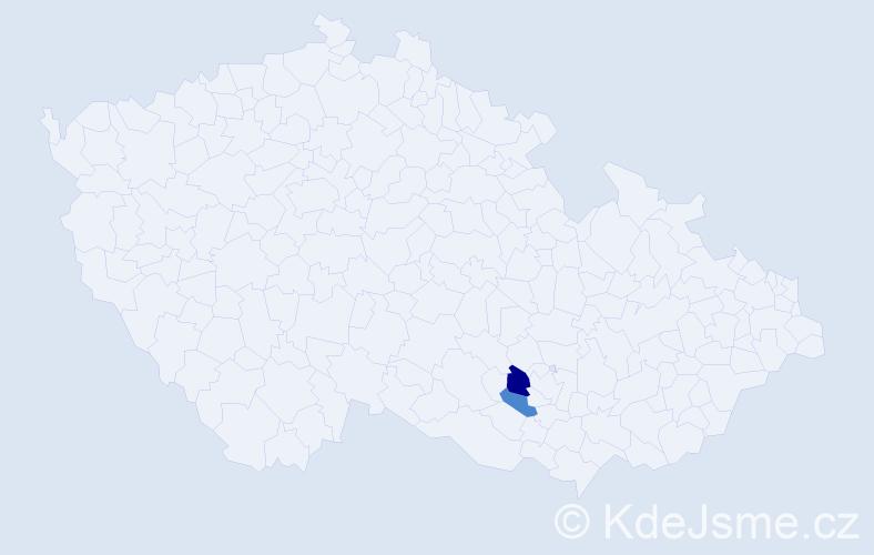 Příjmení: 'Gähr', počet výskytů 3 v celé ČR