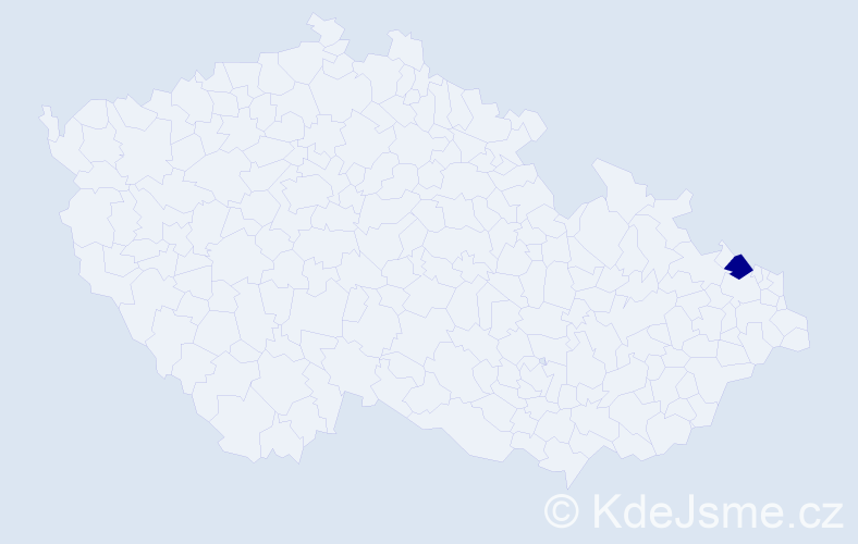 """Příjmení: '""""Hajník Oleksyová""""', počet výskytů 1 v celé ČR"""