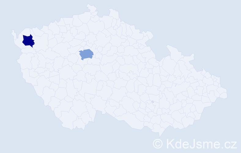 Příjmení: 'Čerňavská', počet výskytů 7 v celé ČR