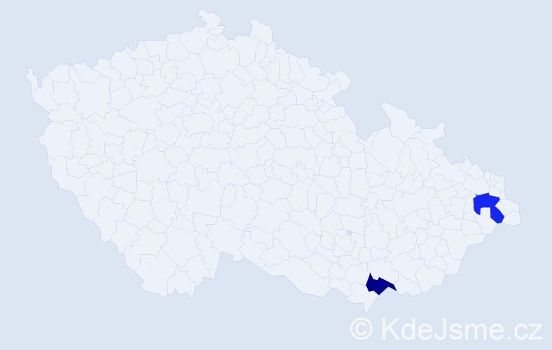 Příjmení: 'Hőrmann', počet výskytů 2 v celé ČR