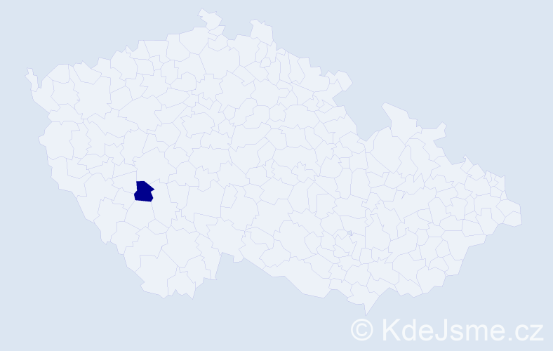 """Příjmení: '""""Čada Fontánová""""', počet výskytů 1 v celé ČR"""