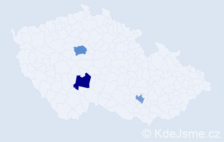 Příjmení: 'Labohá', počet výskytů 6 v celé ČR