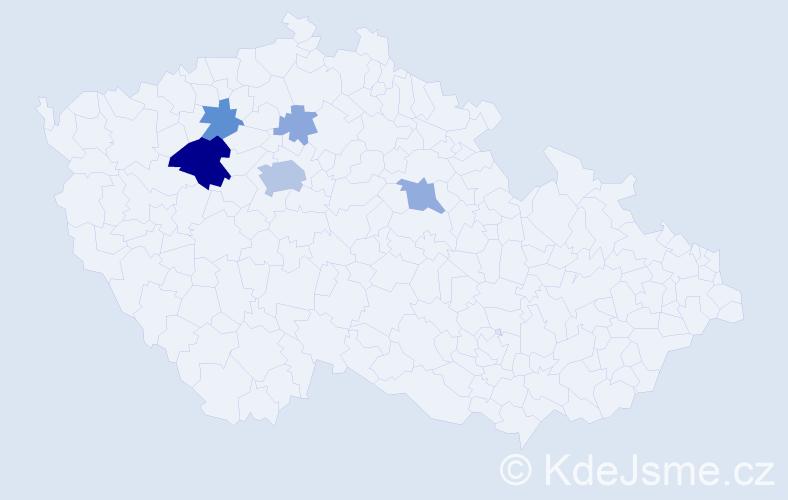 Příjmení: 'Laun', počet výskytů 20 v celé ČR