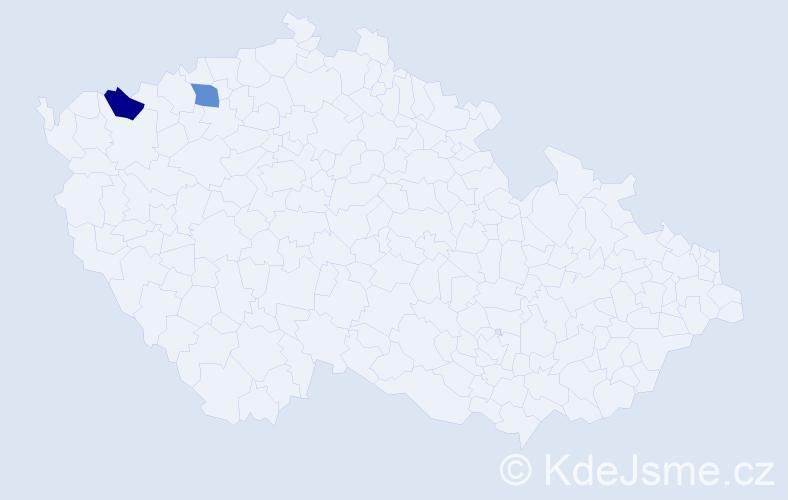 Příjmení: 'Bieneberg', počet výskytů 4 v celé ČR