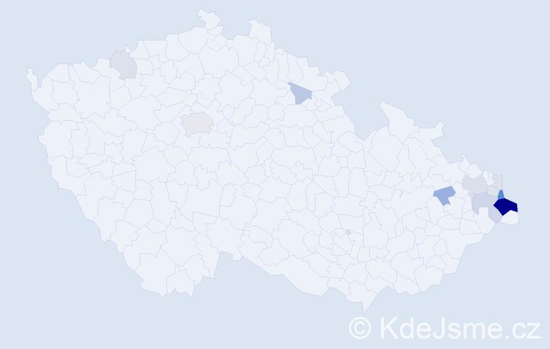 Příjmení: 'Grzegorz', počet výskytů 37 v celé ČR