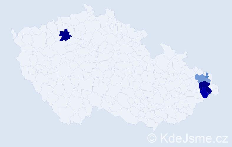 Příjmení: 'Čelinský', počet výskytů 12 v celé ČR