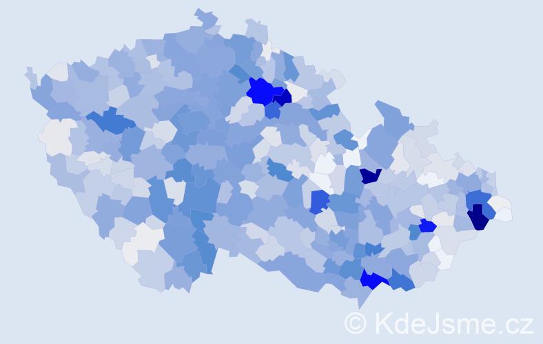 Příjmení: 'Bílek', počet výskytů 4388 v celé ČR
