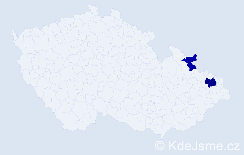 Příjmení: 'Gekas', počet výskytů 6 v celé ČR