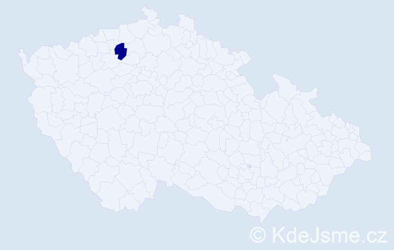 """Příjmení: '""""Červenka Andrášková""""', počet výskytů 1 v celé ČR"""