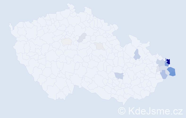 Příjmení: 'Golasowská', počet výskytů 104 v celé ČR