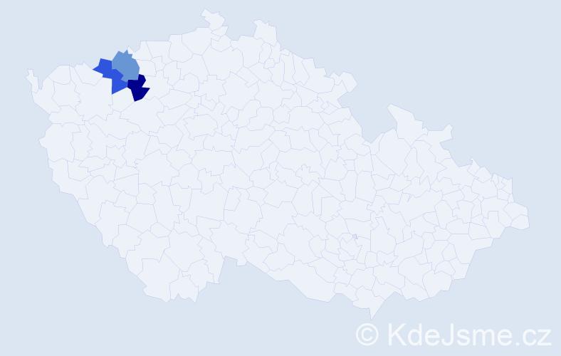 Příjmení: 'Hakavá', počet výskytů 3 v celé ČR