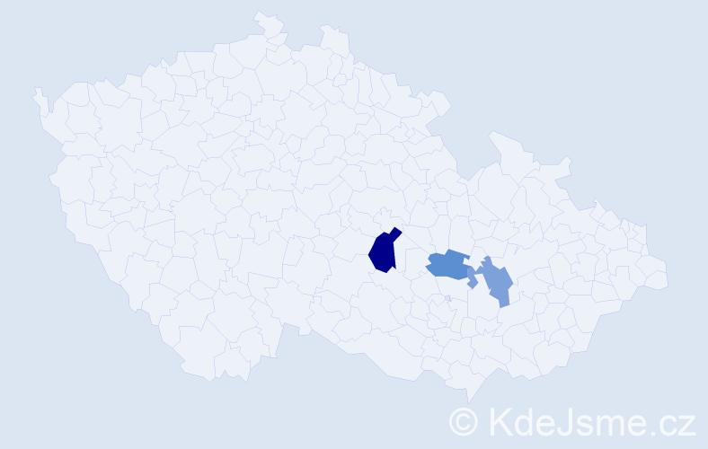 Příjmení: 'Čolakovič', počet výskytů 4 v celé ČR