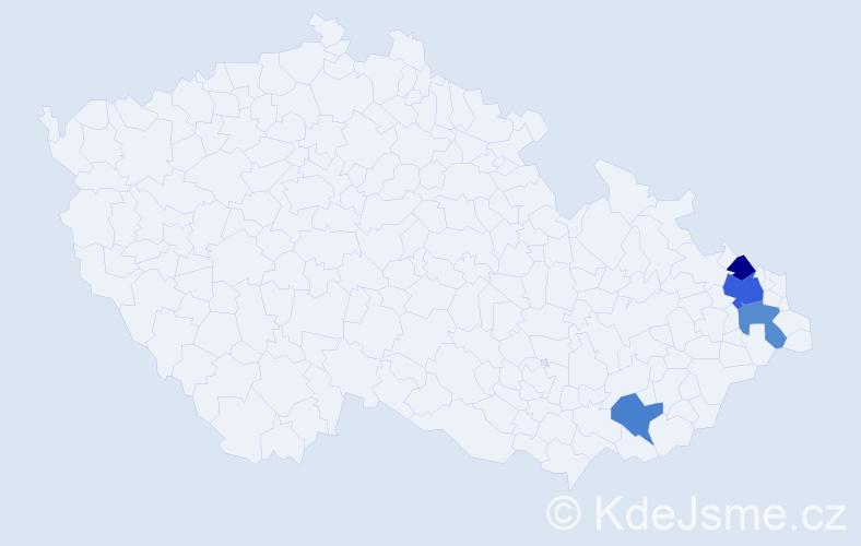 Příjmení: 'Czernottová', počet výskytů 6 v celé ČR