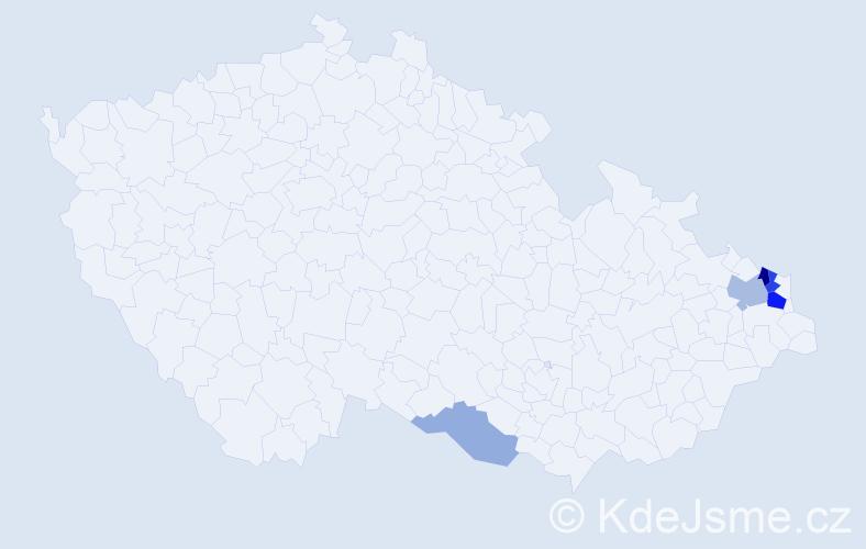 Příjmení: 'Ferdián', počet výskytů 11 v celé ČR