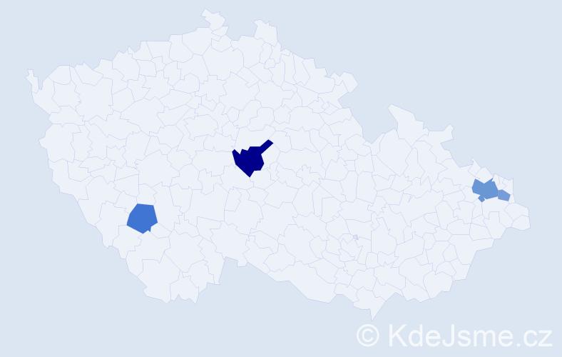 Příjmení: 'Ihnatíková', počet výskytů 7 v celé ČR