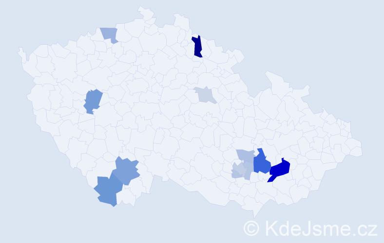 Příjmení: 'Butula', počet výskytů 31 v celé ČR