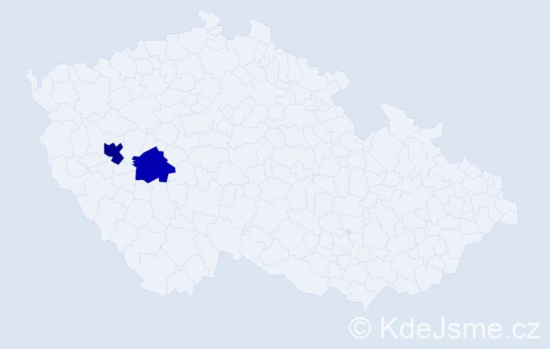 Příjmení: 'Halušitzová', počet výskytů 3 v celé ČR