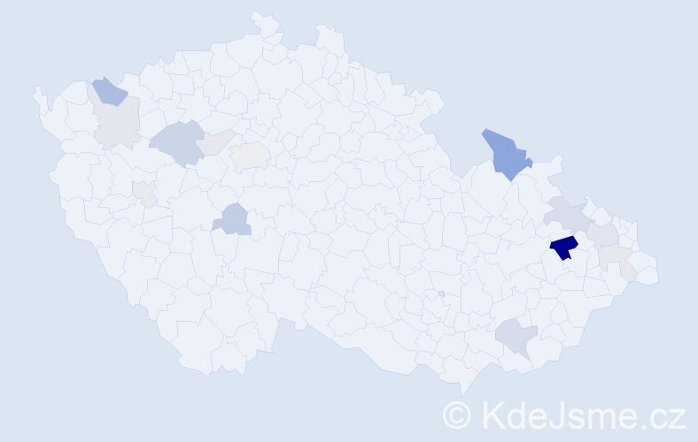 Příjmení: 'Erteltová', počet výskytů 31 v celé ČR