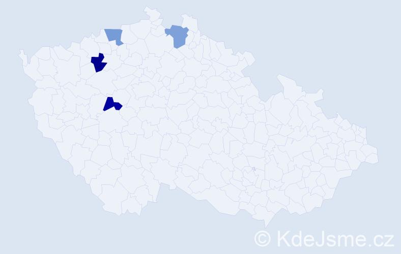 Příjmení: 'Knoblauchová', počet výskytů 4 v celé ČR