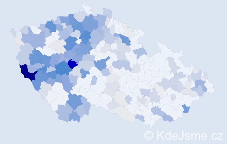 Příjmení: 'Kaiserová', počet výskytů 876 v celé ČR