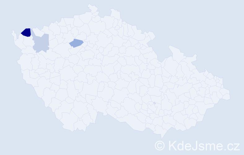Příjmení: 'Čuvarský', počet výskytů 4 v celé ČR