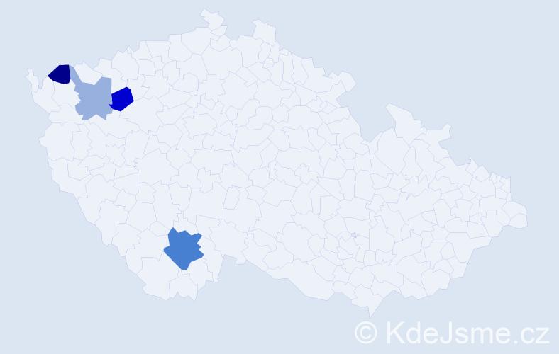 Příjmení: 'Gutvirthová', počet výskytů 7 v celé ČR