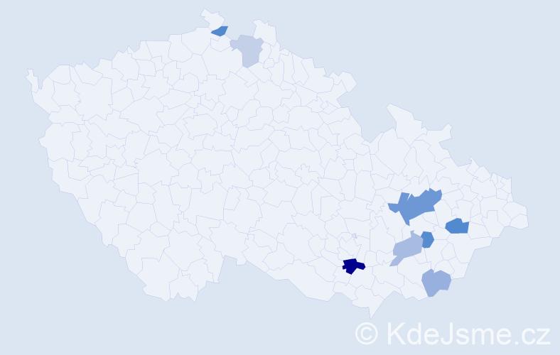 Příjmení: 'Blumajer', počet výskytů 14 v celé ČR