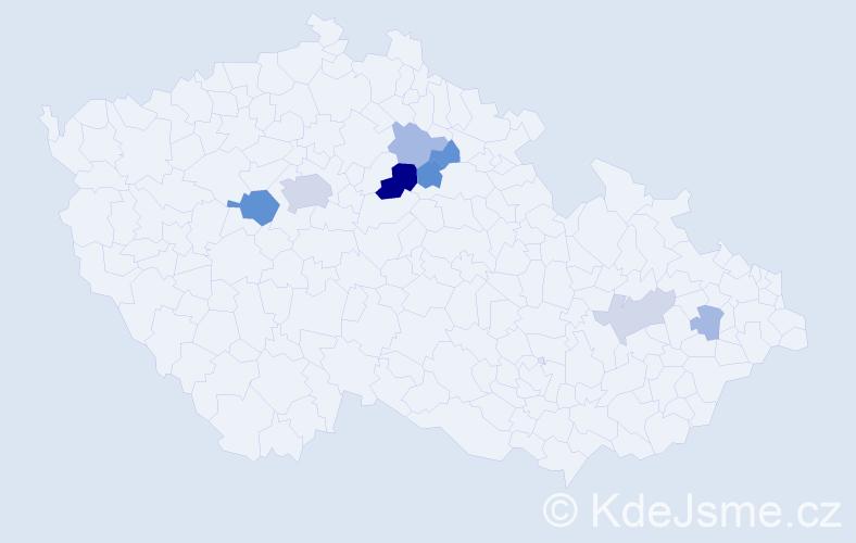 Příjmení: 'Ferstová', počet výskytů 18 v celé ČR