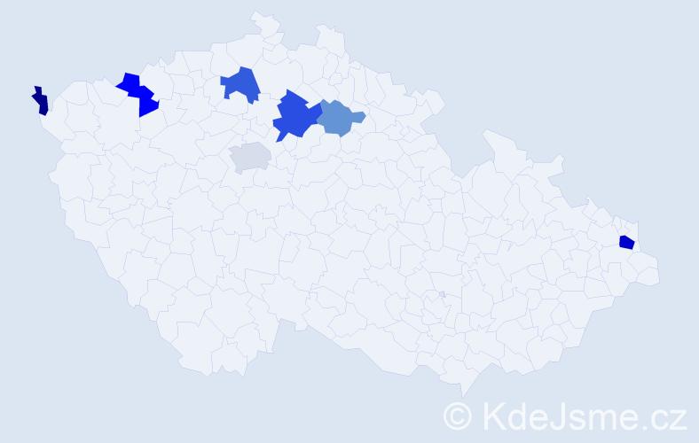 Příjmení: 'Halčák', počet výskytů 15 v celé ČR