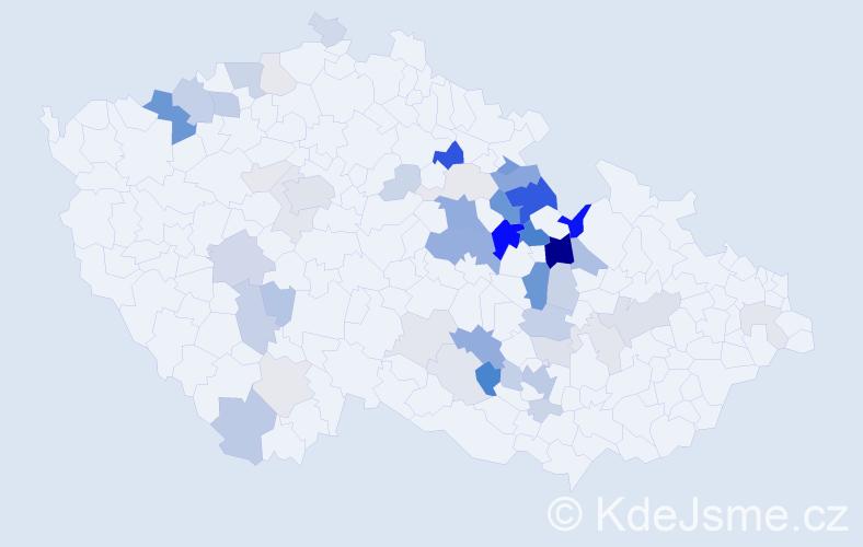 Příjmení: 'Ješina', počet výskytů 143 v celé ČR