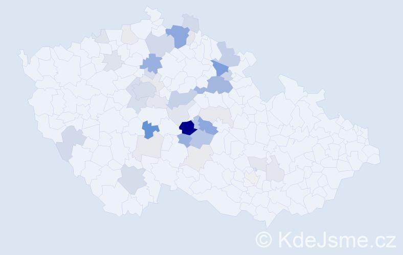 Příjmení: 'Dušátko', počet výskytů 120 v celé ČR