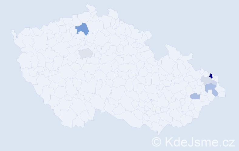 Příjmení: 'Grejták', počet výskytů 18 v celé ČR