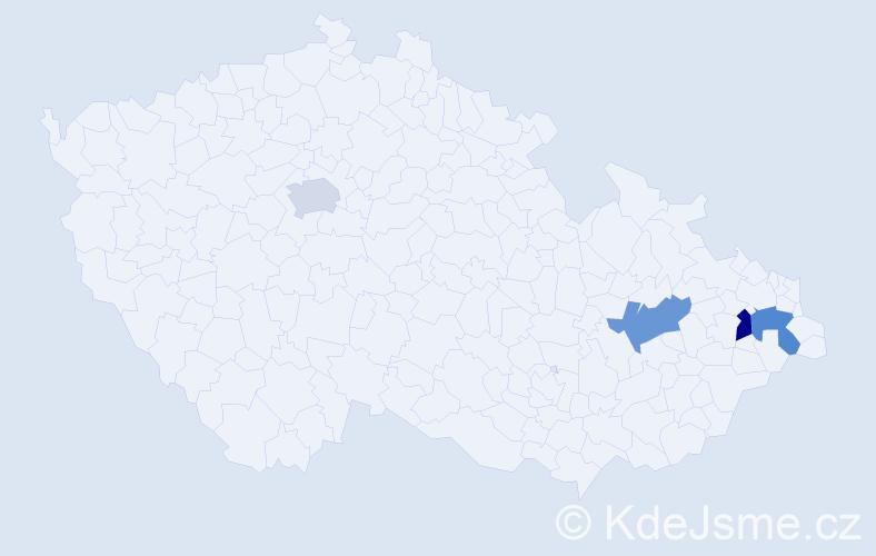 Příjmení: 'Dárek', počet výskytů 4 v celé ČR