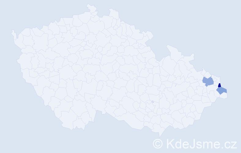 Příjmení: 'Čompová', počet výskytů 6 v celé ČR