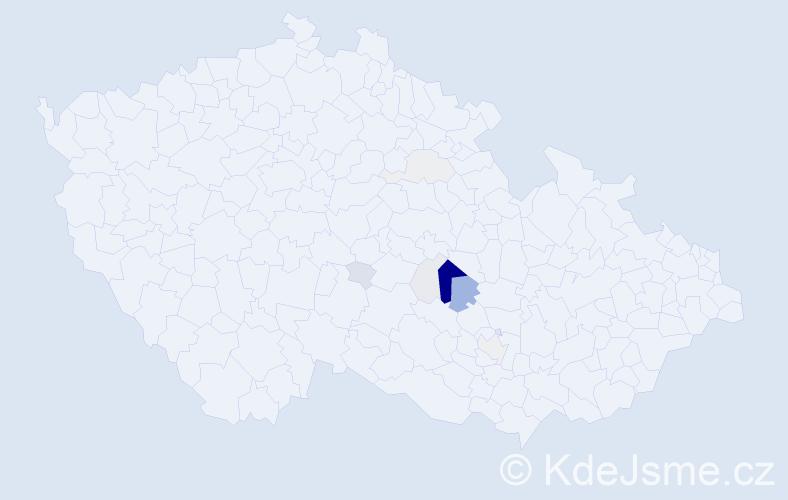 Příjmení: 'Kotovicová', počet výskytů 38 v celé ČR