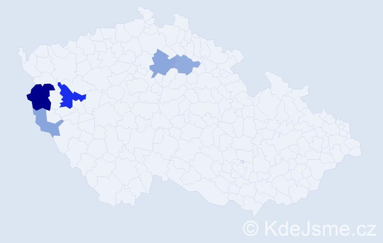 Příjmení: 'Kecerová', počet výskytů 12 v celé ČR