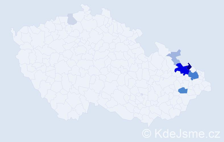 Příjmení: 'Curylová', počet výskytů 33 v celé ČR